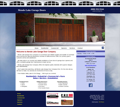 Mendo Lake Garage Door Company, Lakeport, CA